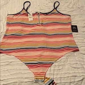 Express - oneelevn NWT ribbed body suit sz XL